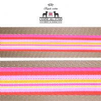 MARTINGALE DOG COLLAR - TROPICAL SUMMER STRIPES PASSION FRUIT